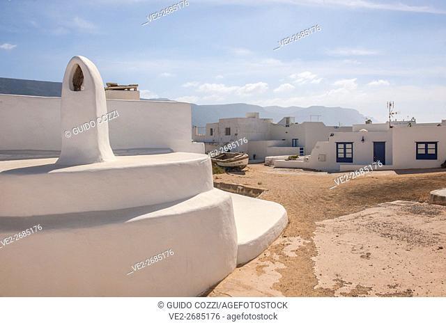 Spain, Canary Islands, La Graciosa . Caleta del Sebo village