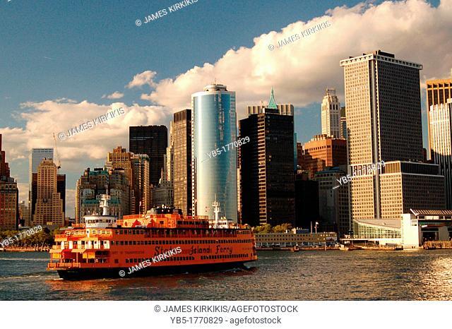 Staten Island Ferry docking in Manhattan