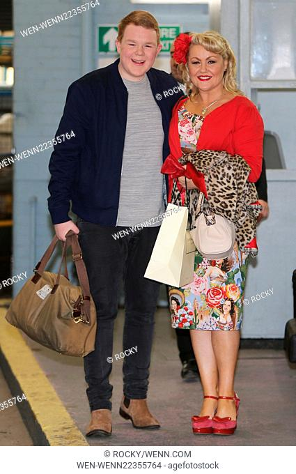 Lisa George and Colson Smith outside ITV Studios Featuring: Lisa George, Colson Smith Where: London, United Kingdom When: 01 Apr 2015 Credit: Rocky/WENN