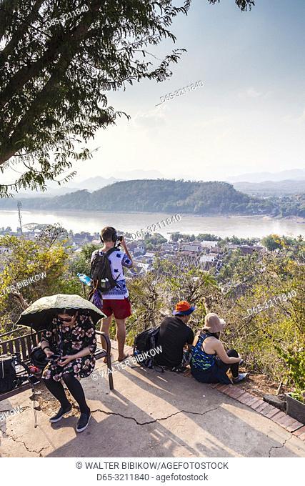 Laos, Luang Prabang, Phu Si Hill, staircase