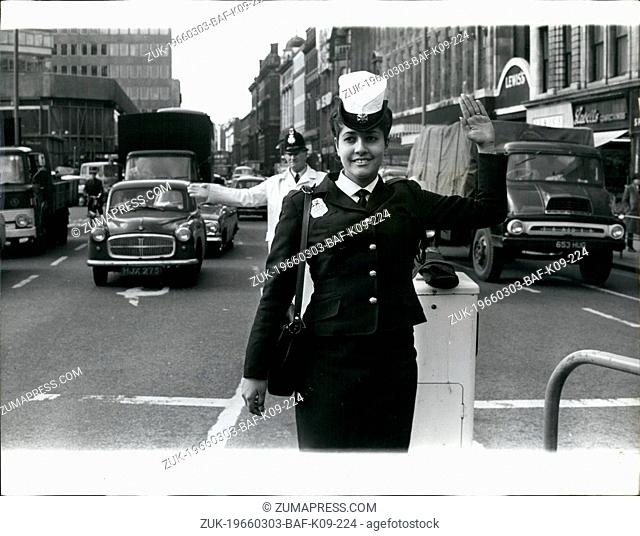 Mar. 03, 1966 - Edna goes point duty: Teenager Edna Avivi went on point duty in a city street on Monday (March 28). Watched over by Constable William Murphy