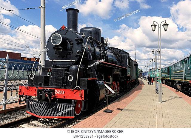 American Second World War steam locomotive Ea-2450 built by Baldwin Locomotive Works Company in 1944