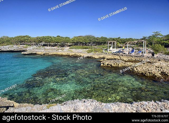 Beautiful Caribbean sea at exquisite Caleta Buena, Playa Giron, Cuba