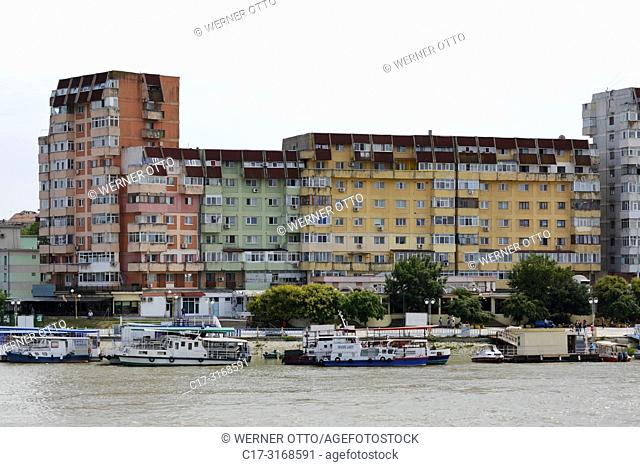 Tulcea, Romania, Tulcea at the Danube, Saint George branch, Tulcea County, Dobrudja, Gate to the Danube Delta, city view, harbour