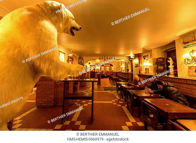 Norway, Troms, Tromso, interior of Olhallen the oldest pub in town