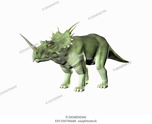 Triceratops an ancient jurassic extinct reptile Illustration