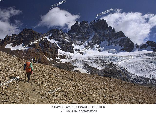 Trekking in the beautiful Cerro Castillo Reserve, Aysen, Patagonia, Chile