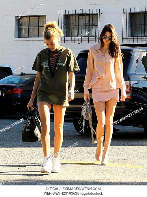 Kendall Jenner and Hailey Baldwin go shopping at XIV Karats in Beverly Hills Featuring: Kendall Jenner, Hailey Baldwin Where: Los Angeles, California