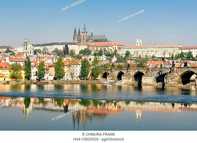 Prague, Charles Bridge, Czech Republic, Bridge, Bridges, Cities, City, Cityscape Cityscapes, Color, Colour, Day, Dayti