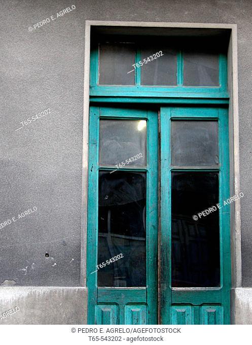 Door of building, Monforte de Lemos. Lugo province, Galicia, Spain