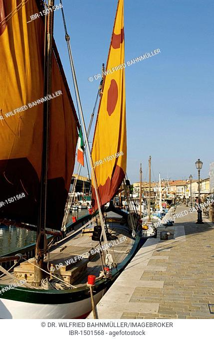 Cesenatico, at the Adriatic Sea, Adriatic coast, Marine Museum Museo della Marineria at the harbour, Emilia Romagna, Italy, Europe