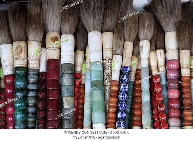 Calligraphy Brushes, Insadong, Insadong is famous for its handicrafts, Seoul, South Korea, Asia