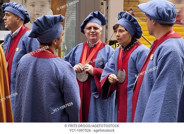 Traditional brotherhood manifestation, Charleville-Mézières, Ardennes, Champagne-Ardenne, France