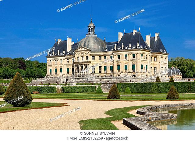 France, Seine et Marne, Maincy, Chateau de Vaux le Vicomte