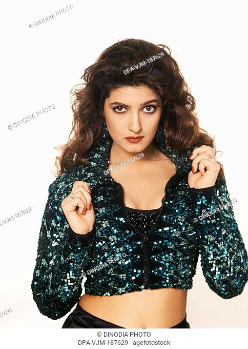 1996, Portrait of Indian film actress Twinkle Khanna