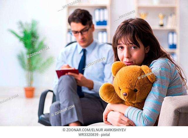 Patient visiting psychiatrist doctor for examination