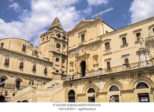 Church of San Francesco all'Immacolata and Monastery of Santissimo Salvatore, Noto, Siracusa, Sicily, Italy