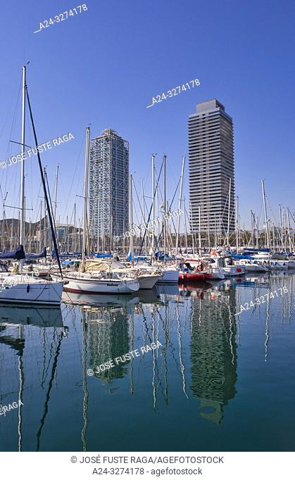 Barcelona City, Olympic Port, Artas Hotel and Mapfre Tower