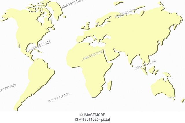 Africa-centered world map