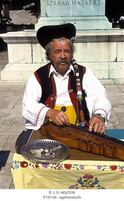 Hungary. Budapest. Zither player
