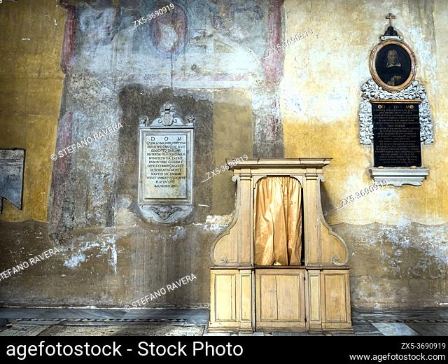 Confessional in the Basilica of Santa Sabina on the Aventine - Rome, Italy