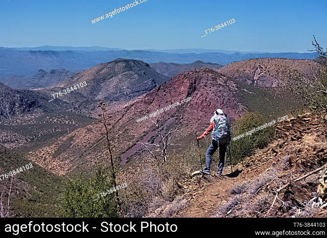 Backpacking the Four Peaks Wilderness, Tonto National Forest, Arizona, U. S. A