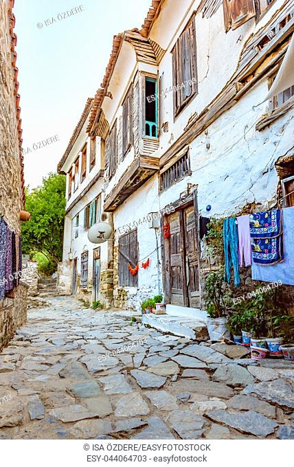 View of a traditional Houses at Sirince Village, a popular destination in Selcuk, Izmir, Turkey