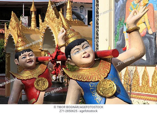 Malaysia, Penang, Georgetown, Burmese buddhist temple,