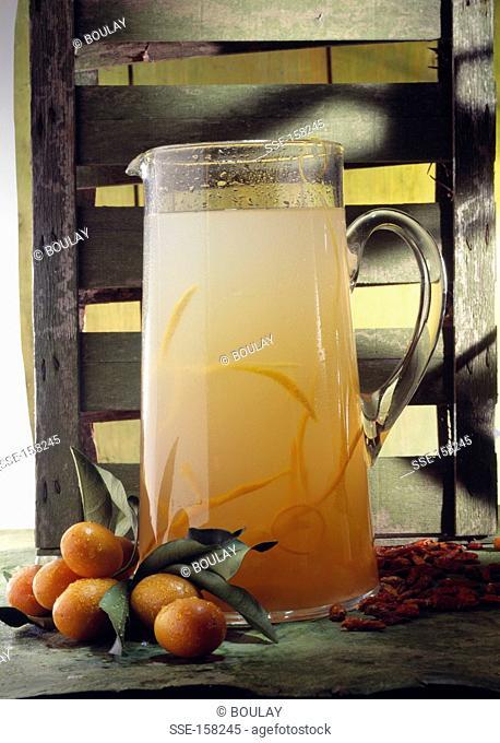 Jug of kumquat juice