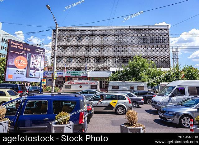 Soviet architecture in Chisinau, capital of the Republic of Moldova