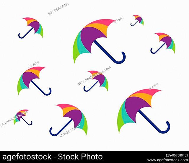 umbrella icon vector template