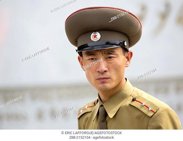 North Korean Soldier In The Dmz, Panmunjom, North Korea