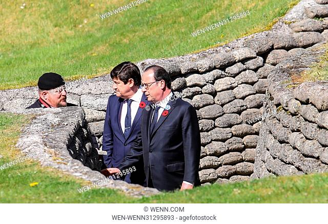 The Prince of Wales, The Duke of Cambridge and Prince Harry attend the Centenary of the Battle of Vimy Ridge Featuring: Francois Hollande Where: Vimy
