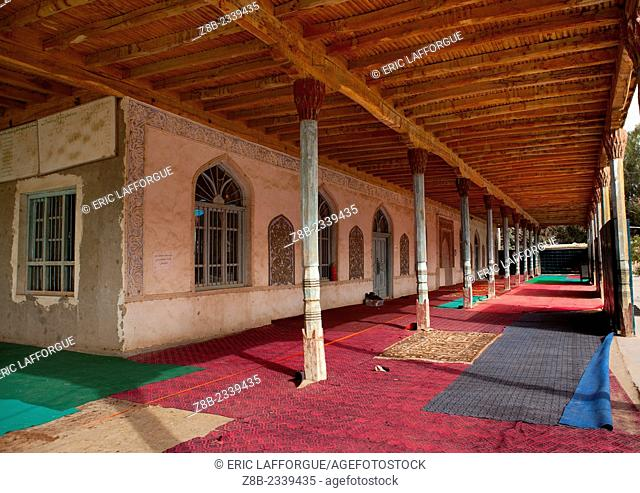 Inside Of A Mosque, Minfeng, Xinjiang Uyghur Autonomous Region, China