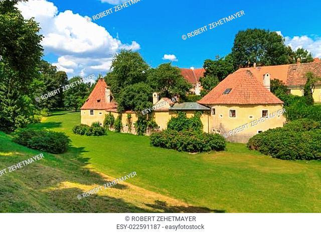 Old town fortification in Trebon (in German Wittingau), Czech Republic