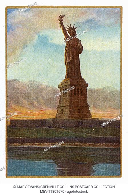 New York City - Playing card - Statue of Liberty (reverse of card)