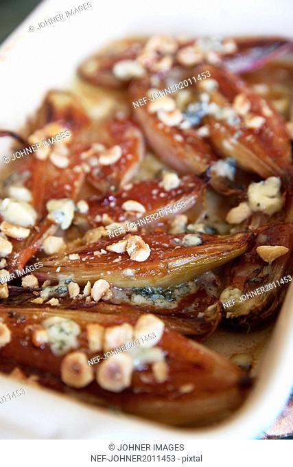 Caramelized onions in dish