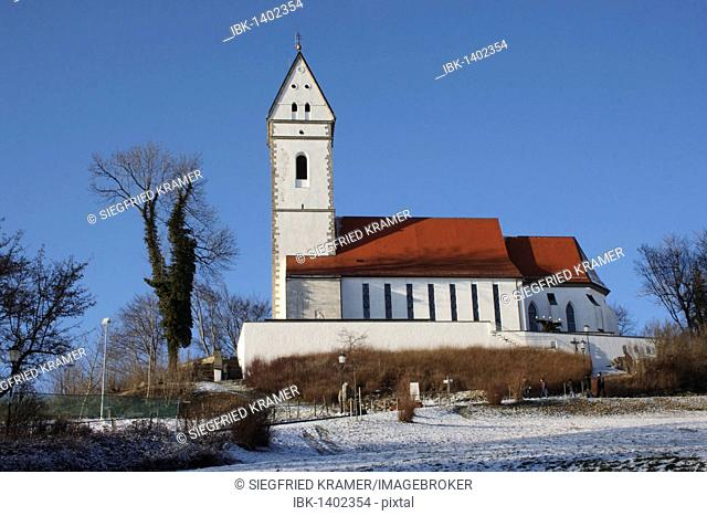 Sanctuary, Bussenkirche church, pilgrimage church St. Johann Baptist, pilgrimage site in northern Upper Swabia, holy mountain Bussen, 767 meters high