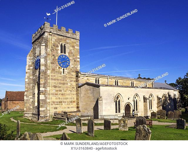 St Andrews Parish Church at Aldborough near Boroughbridge North Yorkshire England