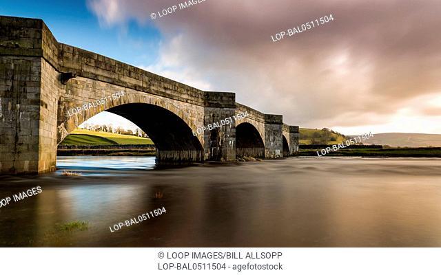 Burnsall Bridge over the River Wharfe in North Yorkshire