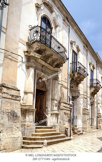 Palazzo Spadaro, Via Francesco Mormino Penna, Scicli, Sicily, Italy