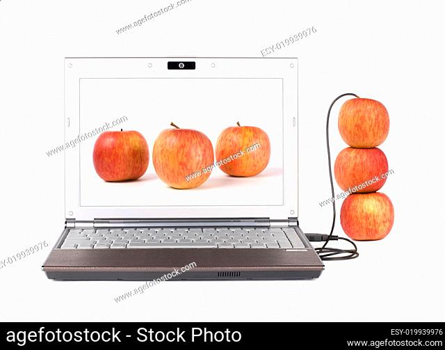Upload real apple from the laptop by USB