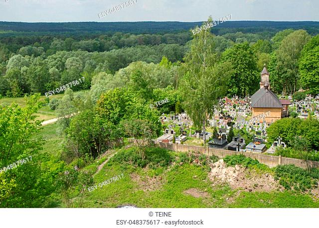 View from a castle hill in the village of Mielnik, Poland