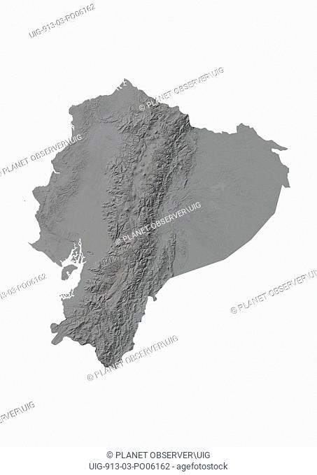 Ecuador, Relief Map