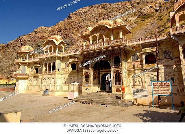 Galta temple ; Jaipur ; Rajasthan ; India