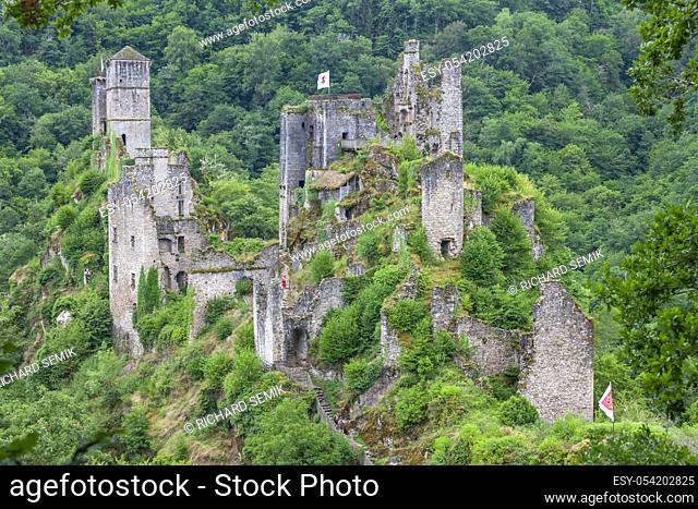 Les Tours de Merle, Medieval Fortress, Correze, France