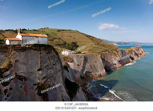 Cliffs in Zumaia, Gipuzkoa, Basque Country, Spain