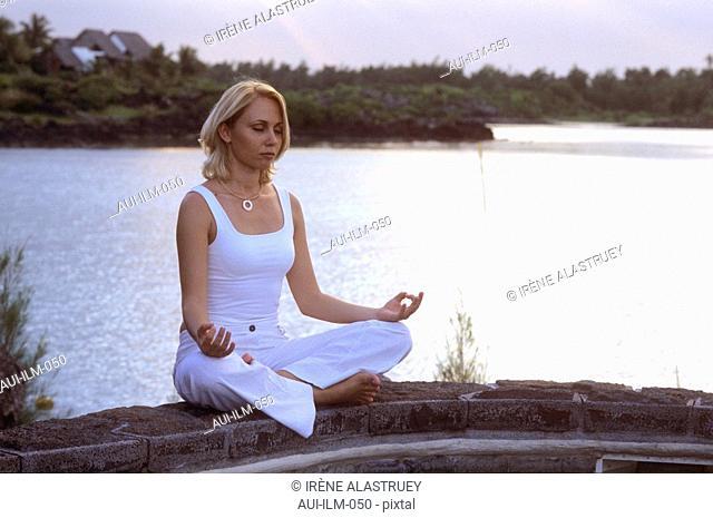 Mauritius - Zen Ambiance - Meditation - woman - Yoga posture