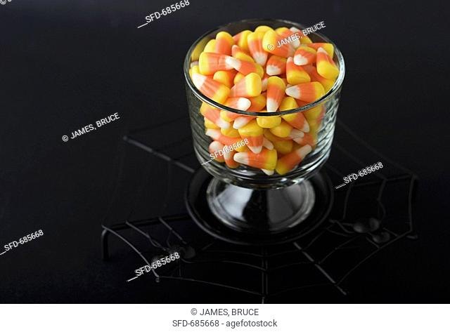 Glass Dish of Candy Corn