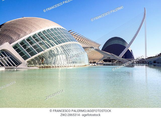 City of Arts and Sciences at sunrise. Valencia, Spain